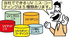UVニス・コーティングの種類